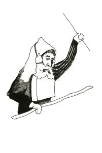dessin baguette barbe