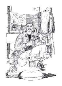 Autoportrait et décor